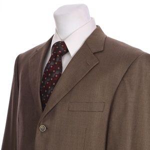 Andrew Fezza 3 Button Brown Ventless Sport Coat